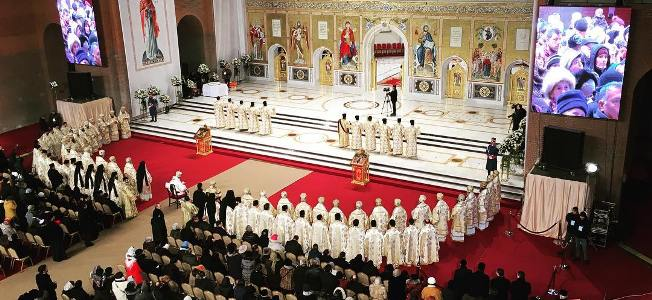 Patriarhul României și Patriarhul Ierusalimului au săvârșit prima slujbă de Sfântul Andrei la Catedrala Mântuirii Neamului