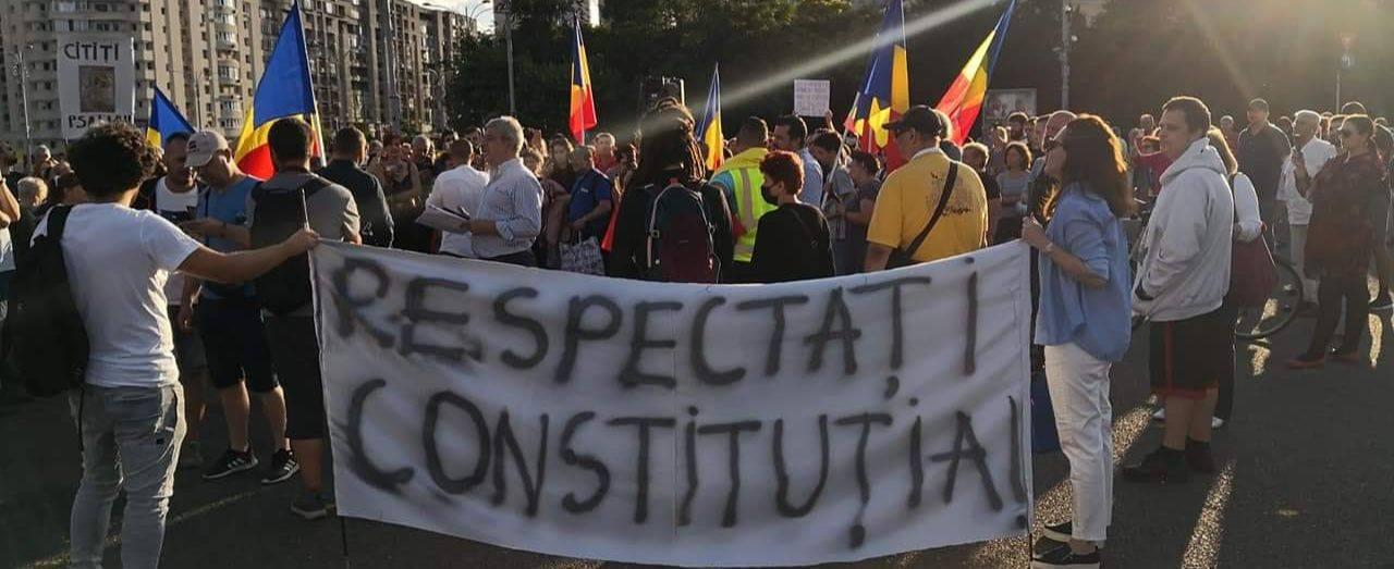 Un nou protest  în Piața Victoriei, împotriva abuzurilor conținute de legea carantinării