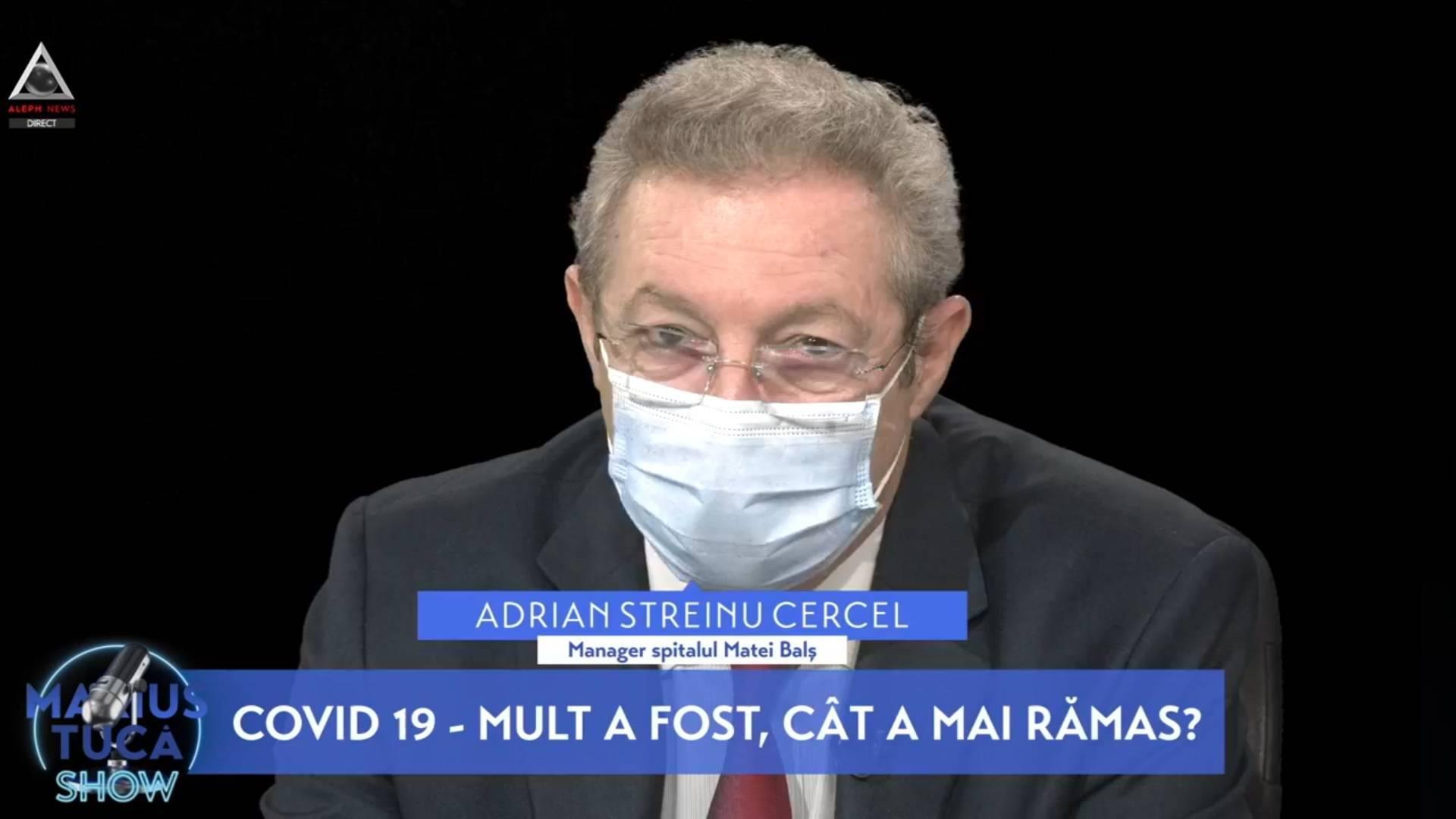 """Prof. dr. Adrian Streinu-Cercel, la Marius Tucă Show: """"Într-un timp, nu foarte îndepărtat, toate spitalele din România vor fi spitale COVID"""", însă epidemia """"în 2023 se termină"""""""