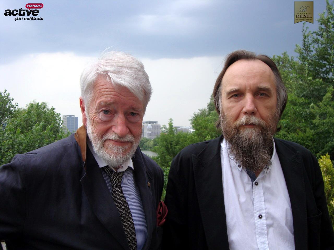 Eugen Mihaescu si Aleksandr Dughin la terasa Diesel din Bucuresti - iunie 2014