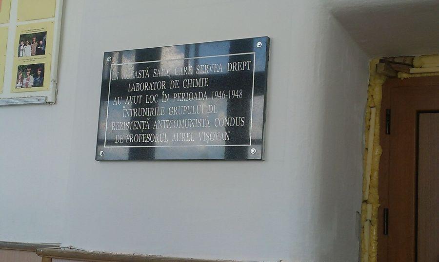 Placa Aurel Visovan Liceu Sighet