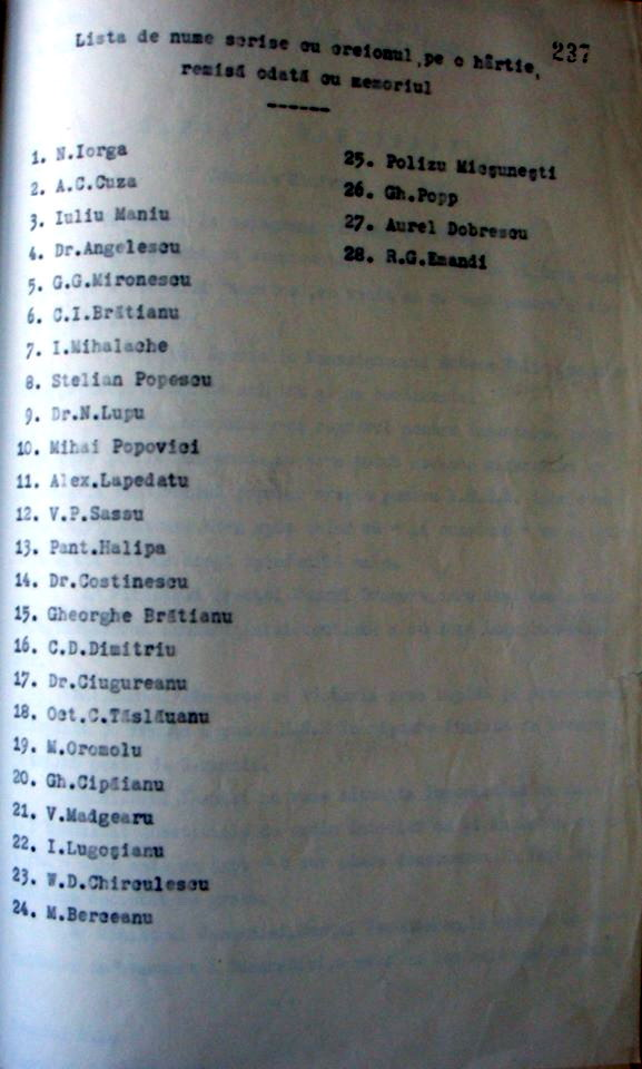Protestul lui Iorga si A C Cuza contra cedarii Basarabiei si Bucovinei - 2 iulie 1940 - 3