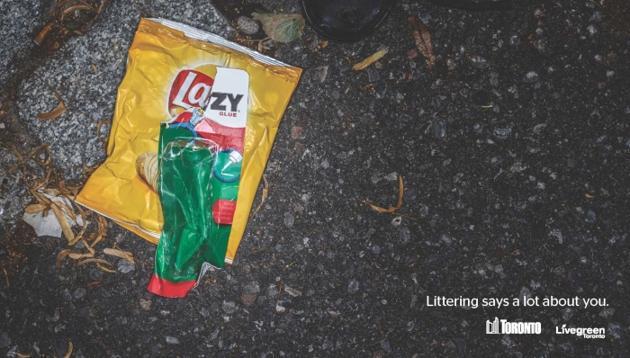 FOTO: Campania publicitară care-i insultă pe cei care fac mizerie pe stradă