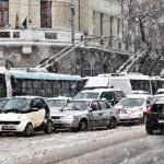 Lapoviţă la Bucureşti şi ninsoare la Suceava