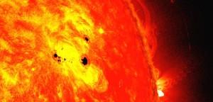 Pată solară uriaşă!