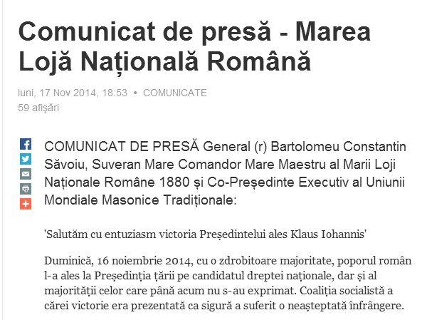 comunicat-masoni