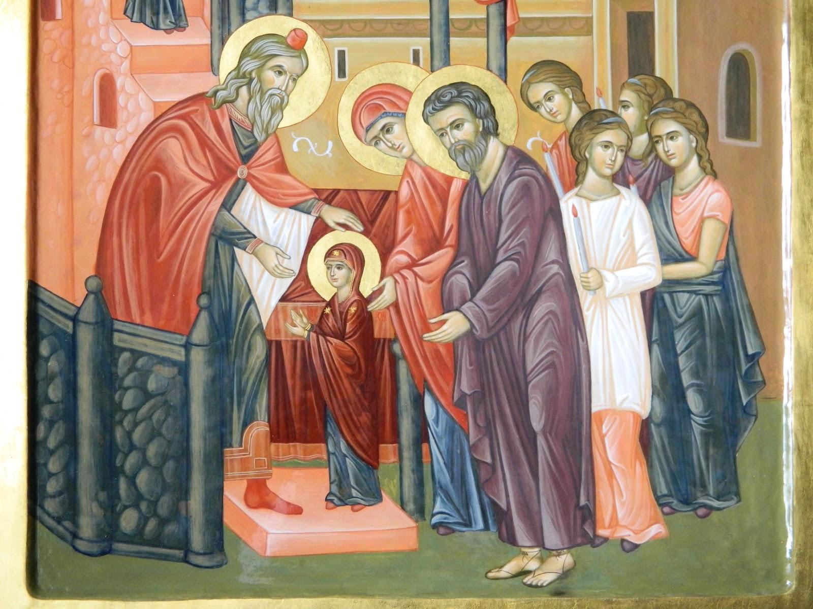 Biserica Ortodoxă prăznuiește astăzi SĂRBĂTOAREA INTRĂRII MAICII DOMNULUI ÎN BISERICĂ