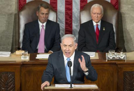 Israeli PM Netanyahu addresses a joint meeting of US Congress
